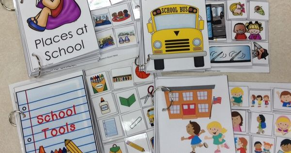 Interactive Vocabulary Books for Back to School. Love these interactive books that