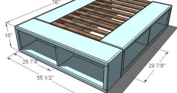how to make a platform bed with storage underneath