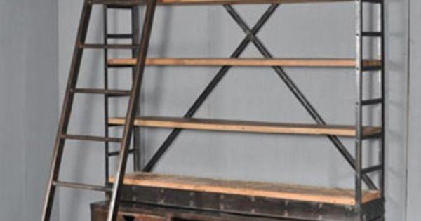 Industri le boekenkast met trap boekenkast pinterest woonidee n idee n en met - Deco woonkamer met trap ...