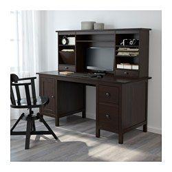 Hemnes Desk With Add On Unit Black Brown 61x53 7 8 Ikea In 2020 Hemnes Ikea Hemnes Desk Desk