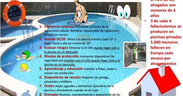 Infografia con el dec logo de seguridad infantil en for Descuidos en la piscina