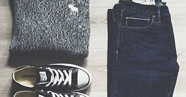 Relaxed and casual outfit - sweater, sunglasses, sneakers, and jeans