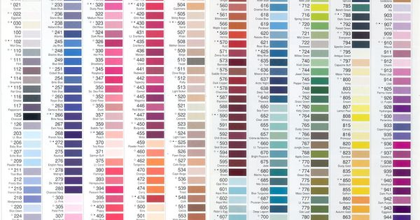 Gutermann Thread Color Chart Found On Seattle Fabrics Web