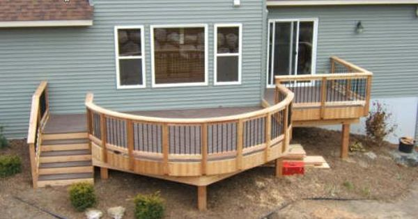 Click Logo To Learn More Patio Deck Designs Curved Deck Deck Pictures