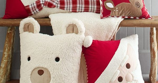 Christmas Decorative Pillows | PBK. I'm sure I could make these as