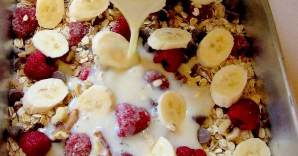 Baked Oatmeal Casserole... bake at night, eat breakfast for the week- Gluten
