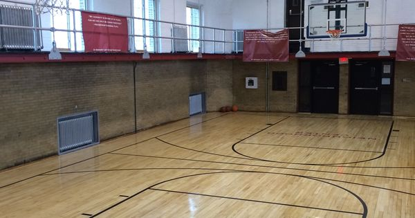 Indoor Basketball Court In A Small Gym In Camden Nj Indoor Basketball Court Indoor Basketball Basketball Court