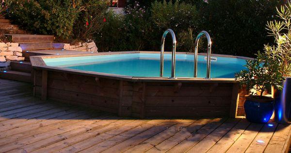 piscine hors sol bois fsc octogonale ocea ubbink prix promo delamaison 2 ttc au lieu de. Black Bedroom Furniture Sets. Home Design Ideas