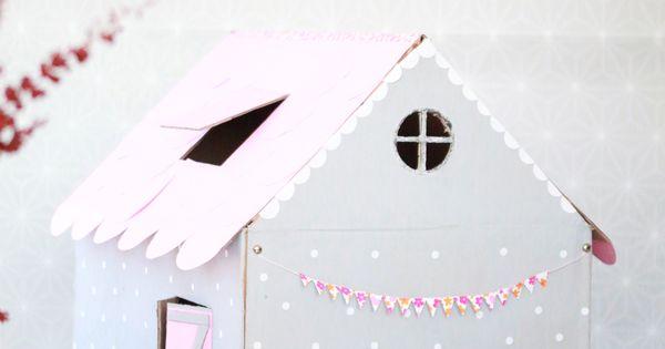 fabriquer une maison en carton pour son chat cabane pinterest maisons en carton carton et. Black Bedroom Furniture Sets. Home Design Ideas