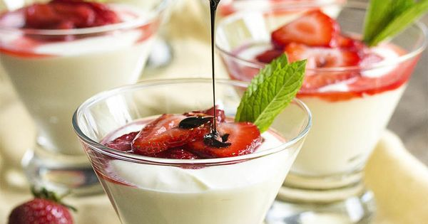 Ricotta-Mascarpone Mousse With Balsamic Strawberries Recipe ...