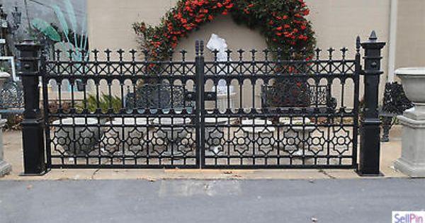 Iron Driveway Gate Sturdy Posts 12 Feet Wide Limited Qty Victorian Style Wrought Iron Driveway Gates Driveway Gate Gate