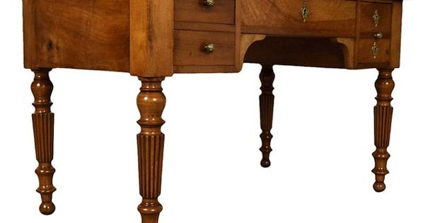 French Walnut Louis Philippe Style Desk 2 645 00 With Images Desk