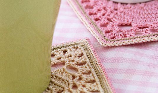 Free Crochet Patterns Japanese Style : Japanese square crochet coasters, free pattern Crochet ...