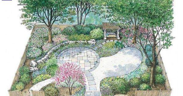 House Plan 0 Beds 0 Baths 0 Sq Ft Plan 1040 99 Landscapeplans This Floor Plan Is 0 S Planos De Diseno De Jardines Paisajismo De Patio Diseno De Paisaje
