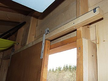 田舎暮らしとdiy製作記録集 自作物置製作編 8 物置に最適な 自作吊り引き戸の秘密 引き戸 物置 引き戸 Diy