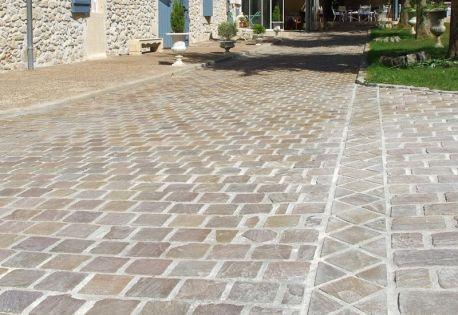 Paves Gres India Vente De Paves Decoration Minerale Revetement Sol Exterieur Terrasse Pave Carrelage Terrasse Exterieur