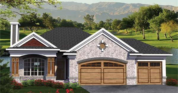 Home plan homepw77581 1500 square foot 3 bedroom 2 for 1500 sq ft ranch house plans with garage