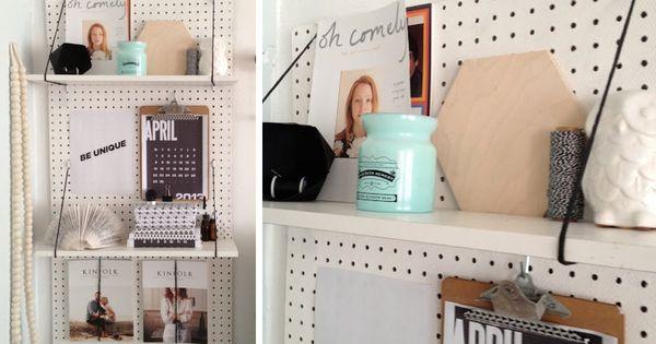 chambre tagere panneau perfor bureau pinterest. Black Bedroom Furniture Sets. Home Design Ideas