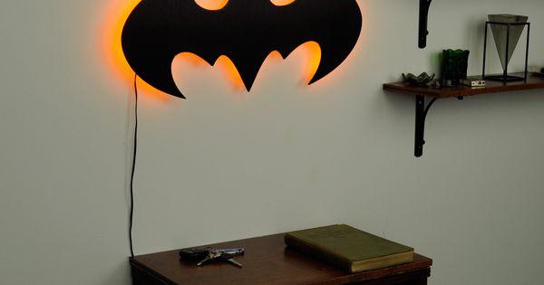 lighted batman logo wall art toddler room ideas Baby Room Ideas Pinterest Baby Room Ideas Pinterest