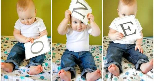 Cute idea for first birthday pictures