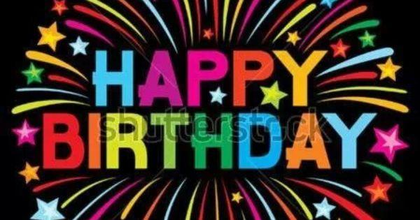 Pin By Hanna Kropkowska On Happy Birthday: Happy Birthday, Black Background, Very Colorful Wording