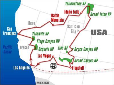 America Occidentale Cartina.U S A West Viaggio In Camper Viaggio In Viaggio