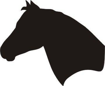 Horse Head Silhouette Vinyl Window Decal 6 X 5 Clipart Best Clipart Best Horse Silhouette Horse Head Animal Silhouette
