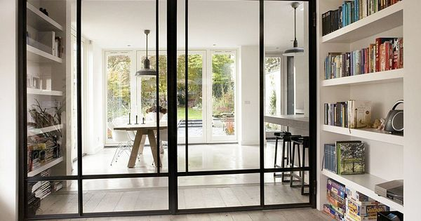 Moderne kamer en suite kamer en suite 3 0 staal pinterest industrieel deuren en bril - Partition kamer ...