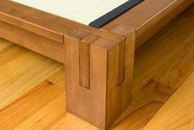 Detail Corner Of Tatami Platform Bed Woodworking Bed Bed Frame Plans Build Bed Frame