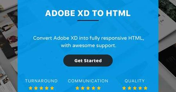 Adobe Xd To Html By Designingmedia Adobe Xd Business Card Template Web Design Tips