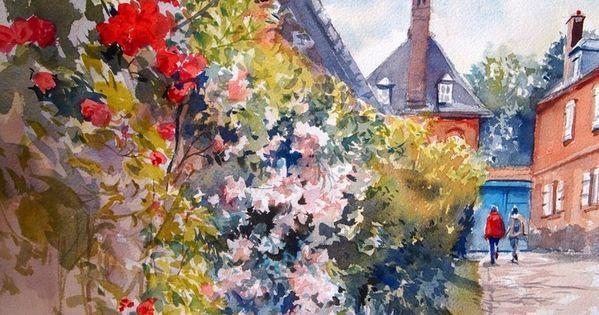 Watercolors By Tsukiyo Ono Fleurs Colorees Fleurs Et Peintre