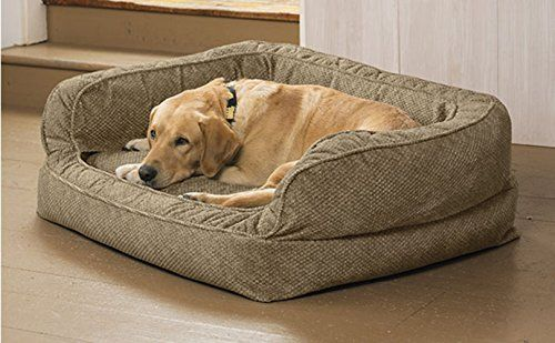 Orvis Lounger Deep Dish Dog Bed With Memory Foam Large Dogs 6090 Lbs Brown Tweed You Can Get More Details By Clickin Cedar Dog Bed Dog Couch Bed Dog Couch