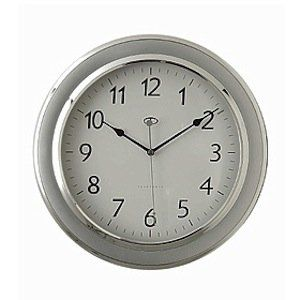 Amazon Com Telesonic Silver Wall Clock W Quiet Sweep Second Hand Home Kitchen Silver Wall Clock Silver Walls Wall Clock