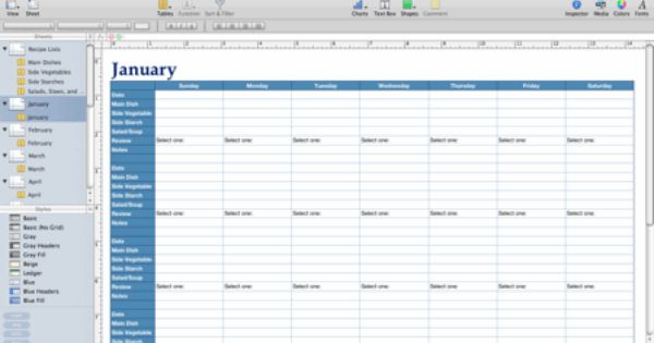Numbers Template For Meal Planning How To Plan Meal Planner