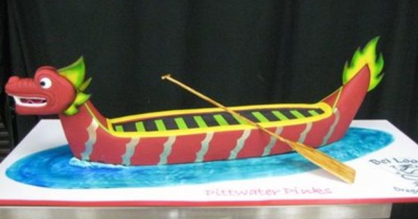 Dragon Boat Festival Cake Chinese Asian Themed Party