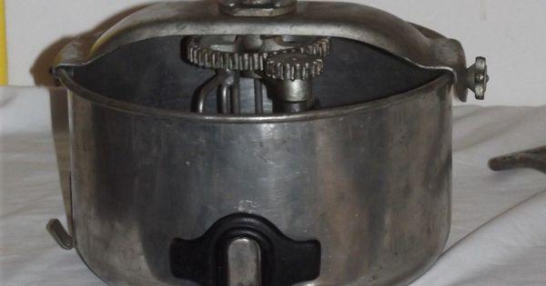 Vintage Hand Crank Dough Mixer Pan For Homemade Bread Or