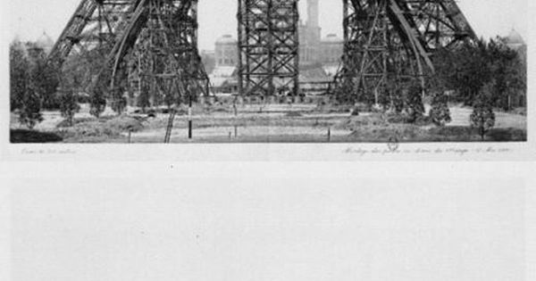 The building of the Eiffel Tower Eiffel Tower Paris architecture
