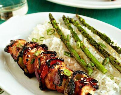 Asian Chicken Kebabs Recipe | Asian chicken recipes, Kabobs and Honey