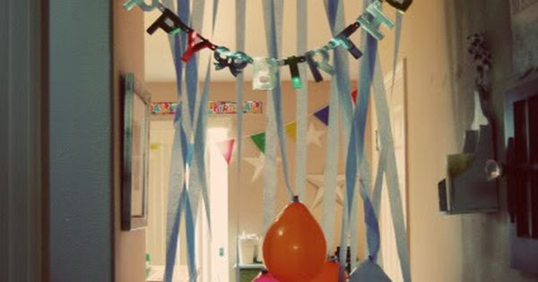 Do this to the kids doorway on their birthday morning!