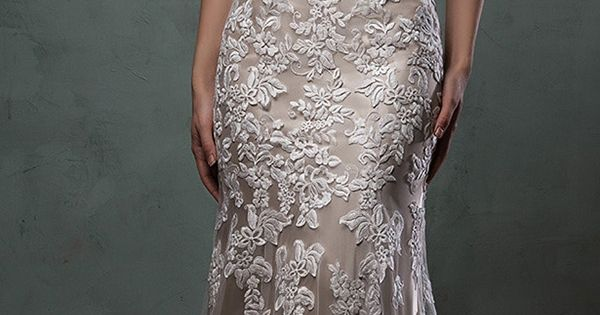 amelia sposa champagne underly lace wedding dress 2016 alba