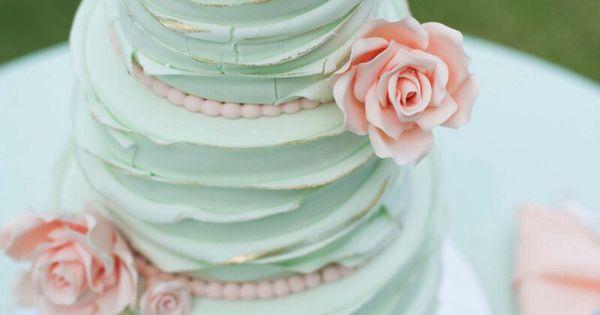 Mint Wedding - Mint Wedding Cake. 15 Mint Wedding Ideas for Spring