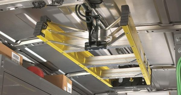 Jet Rack Step Ladder Storage System From American Van