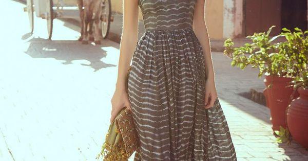 Summer dress , Shibori Maxi Dress Anthropologie