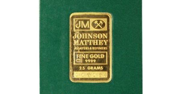 Johnson Matthey 2 5 Gram Gold Bar Sealed In Assay Card