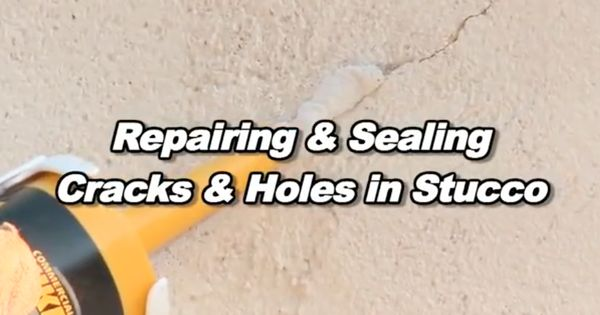 How To Easily Repair Cracks And Holes In Stucco With Video From Quikrete Building Blocks