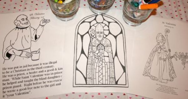 St valentine 39 s day printables st valentine 39 s day for St valentine coloring pages catholic