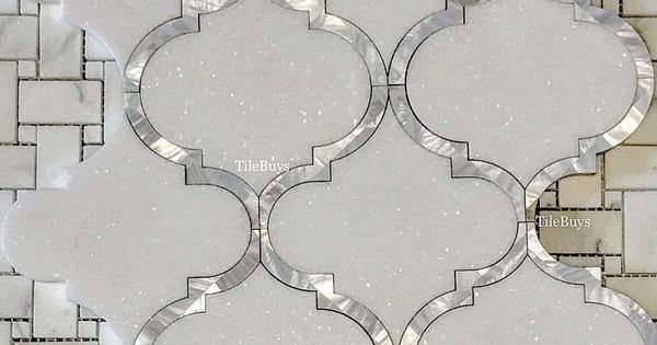 0 Likes 1 Comments Tilebuys Com Tilebuys On Instagram Premium Greece White Thassos Mother Of Pea Mother Of Pearl Backsplash Pearl Tile Arabesque Tile