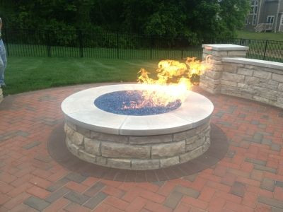 Glass Gire Pit The Fire Pit Below Has 4 Fireballs Over A Bed Of