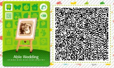 Acnl Achhd Qr Code Photo Of Able Sisters Parents Wedding As