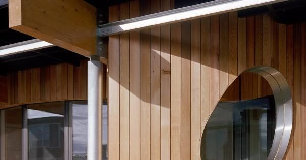 Curved cedar cladding external